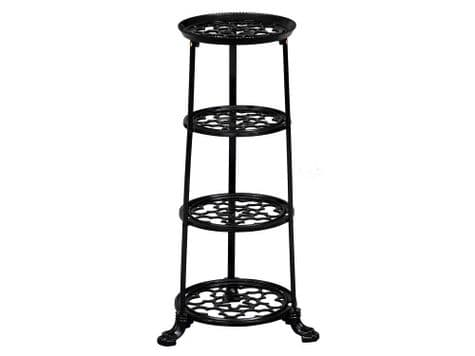 tiered metal plant stand | metal pot display stand