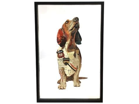 basset hound collage art | abstract dog picture | Libra