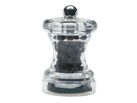 Capstan stainless steel pepper mill | clear pepper mill
