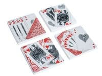 Deckor Ceramic Playing Card Coasters - Set of 4