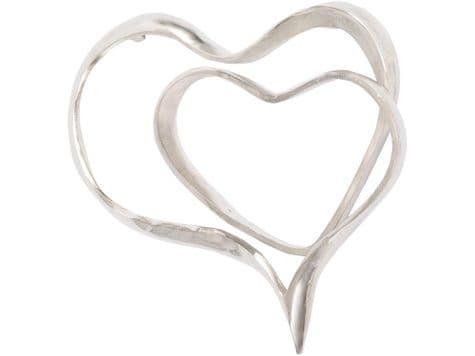 abstract silver heart wall sculpture   silver hearts metal wall hanging