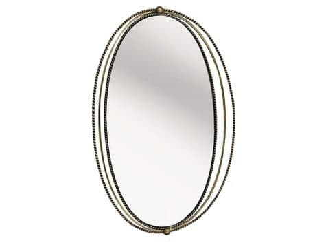 rope frame wall mirror | gold cable frame mirror | Libra Carrick