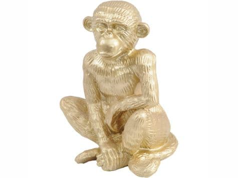 golden monkey | gold sitting monkey sculpture | Libra