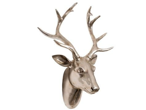 champagne stags head hanging | antlers stags head wall trophy