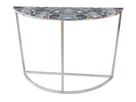 real agate console table | half moon curved table | Libra