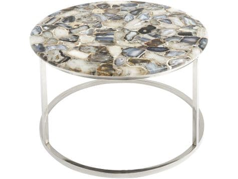 natural agate coffee table | coffee table with polished stone top