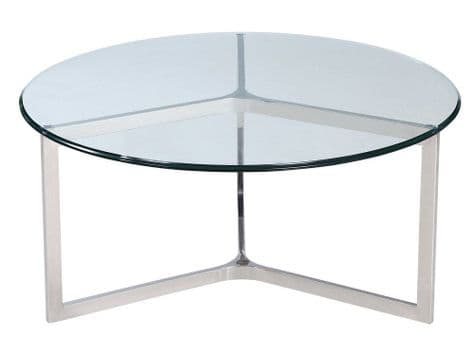 stainless steel and glass coffee table | minimal metal coffee table | Libra Linton Steel And Glass Coffee Table