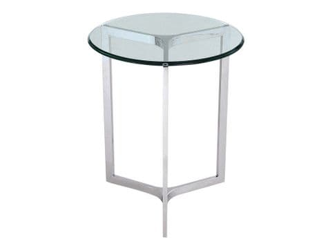 stainless steel and glass end table   minimal metal side table   Libra Linton Steel And Glass End Table