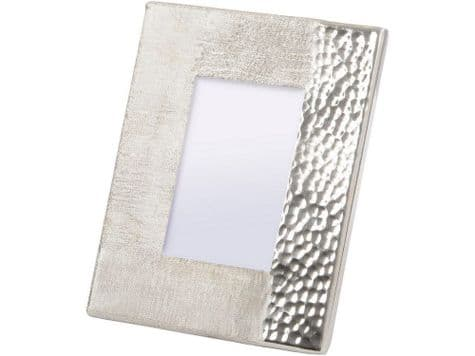 dimpled silver metal photo frame | hammered metal frame | Libra Fuse