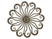 Antique Golden Flower Metal Wall Decor