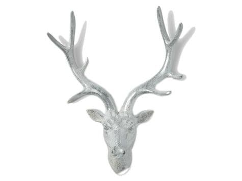 white stag head wall hanging | wall mounted white stag antlers