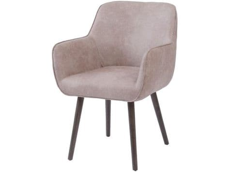 grey faux leather dining chair | pale grey leather bucket chair | Libra
