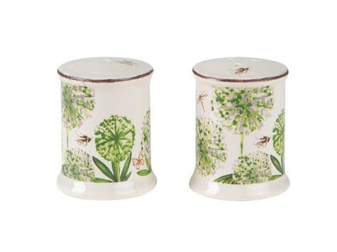T & G cottage garden salt and pepper | floral salt and pepper pots