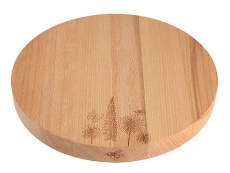 circular wooden serving board   thick round wood kitchen board