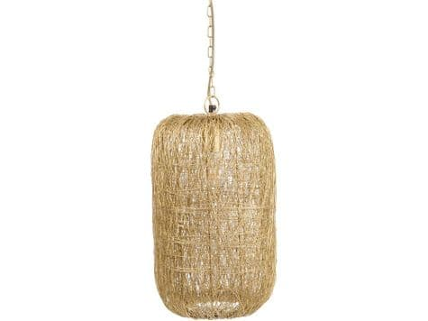 woven gold wire pendant lamp | gold strands hanging light | Libra