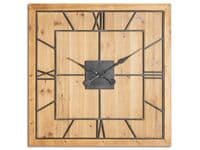Evermore Square Wood Wall Clock - Large