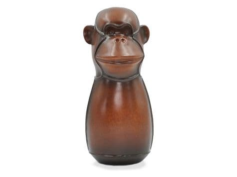 leather monkey figure | faux leather monkey ornament | Libra
