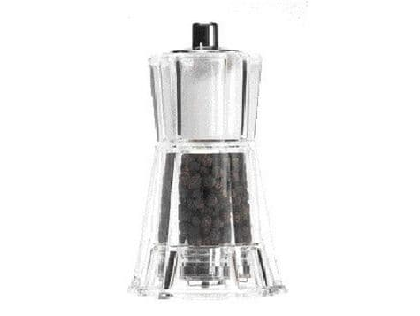 flare 2 in 1 Combi clear plastic pepper & salt mill