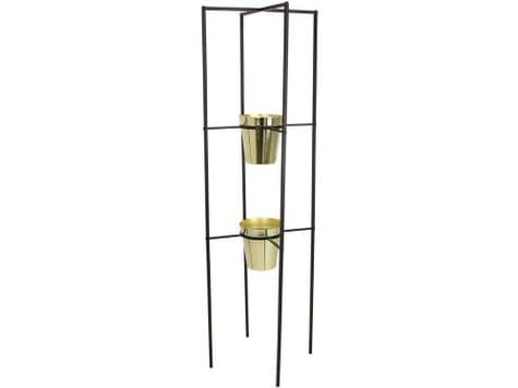 two level planter stand | gold planters in frame | Libra