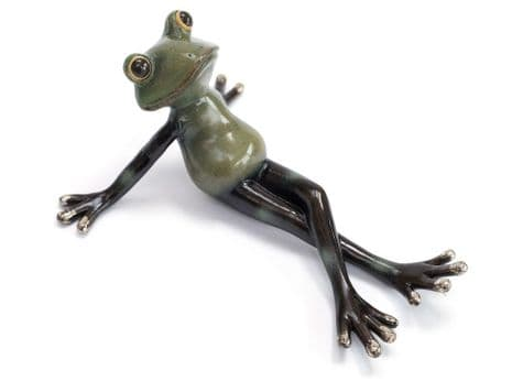 cute frog sculpture | laying frog ornament