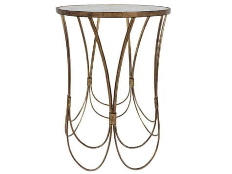 decorative scalloped side table | art deco gold loops table | Libra Deco