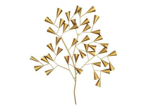 golden tree wall decoration | metallic gold wall feature