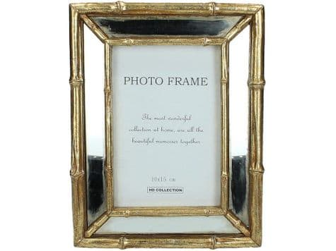 vintage gold bamboo picture frame | gilded bamboo photo frame | Libra
