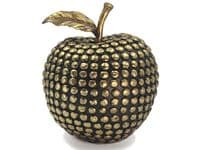 Golden Studs Black Apple Ornament