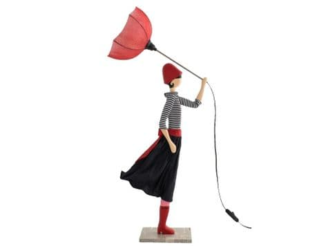 umbrella girl table lamp | girl holding umbrella bedside