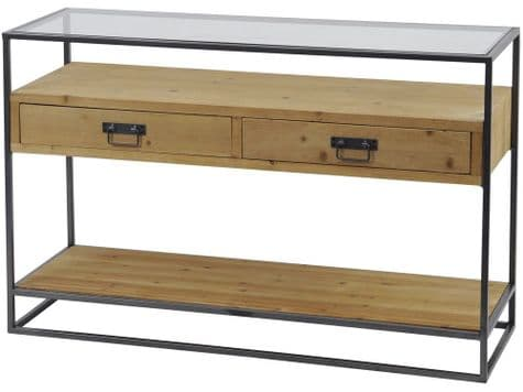 urban style hall table | industrial style console table | Libra