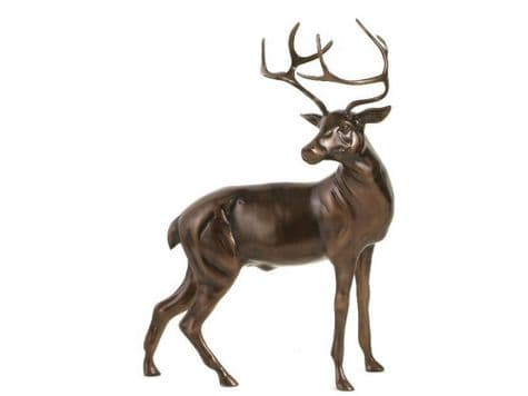 large stag statue | bronze stag sculpture