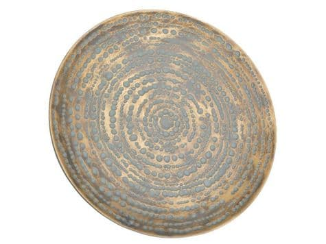 antique gold wall plate | round disc gold wall decoration | Libra Lexington