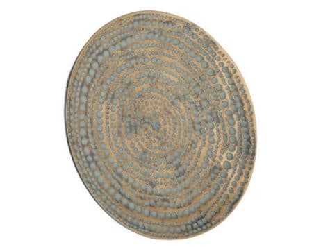 antique gold wall plate | round disc gold wall decoration | Libra Winslow