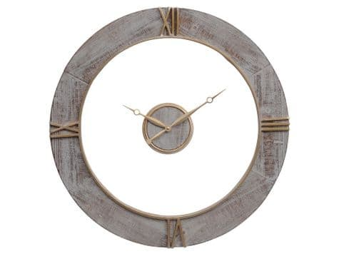 floating centre wall clock | two piece wooden wall clock | Libra