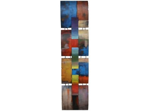 abstract metal panels wall art | colourful metal wall decor | Libra