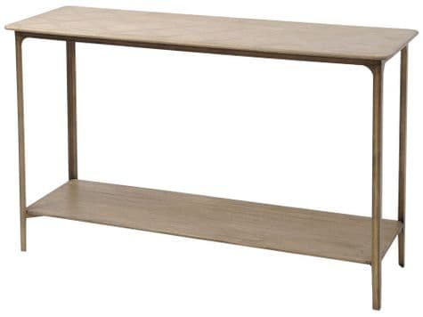 parquet console table | embossed wood console table | Libra Anstey