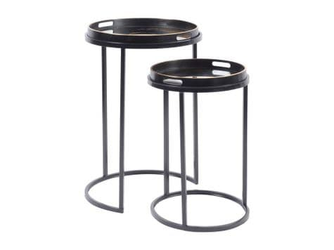 round tray top tables | mirror top nesting tables | Libra