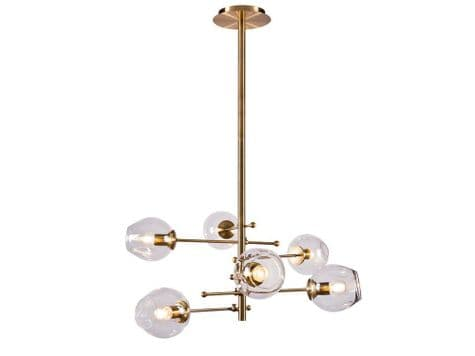 modern brass pendant light | vertical pole ceiling light | Libra
