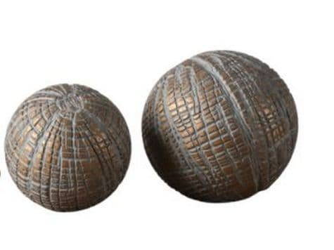 woven gold decorative balls   antique gold display spheres