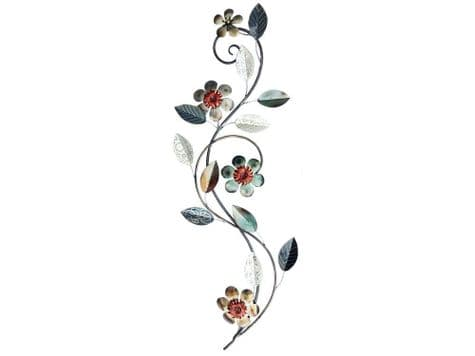 silver floral wall art | floral metal wall hanging | Libra