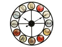 Smarty Iron Clock with Coloured Domed Numerals