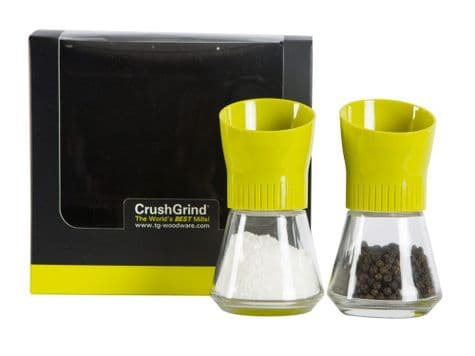 bright green salt and pepper mill set | boxed gift mill set