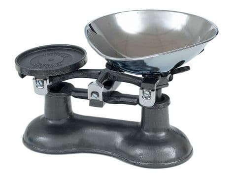 graphite grey traditional kitchen scales   scales