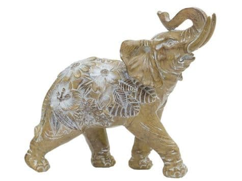 decorated trumpeting elephant statue | flower elephant ornament | Libra Valeria