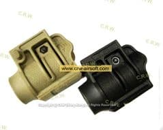 Quick Release Flashlight Mount for Rail Black or Tan