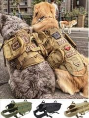 Tactical dog harness in Tan, (Medium or Large)
