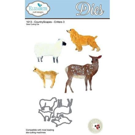 1013 ~ COUNTRYSCAPES ~ CRITTERS 3 ~ Dies by Elizabeth Craft Designs