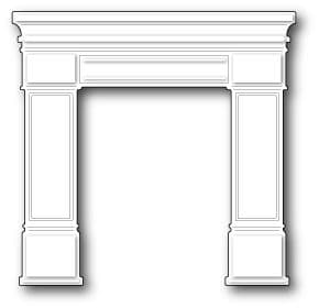 1039 ~ GRAND MADISON FIREPLACE ~ Poppystamps die