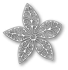 1055 ~ SMALL LUXE POINSETTIA OUTLINE ~ Discontinued ~ Poppystamps die