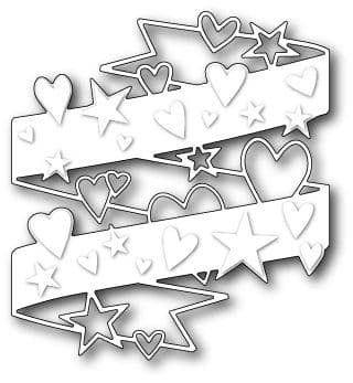 1143 ~ HEARTS AND STARS WRAP  ~ Poppystamps die
